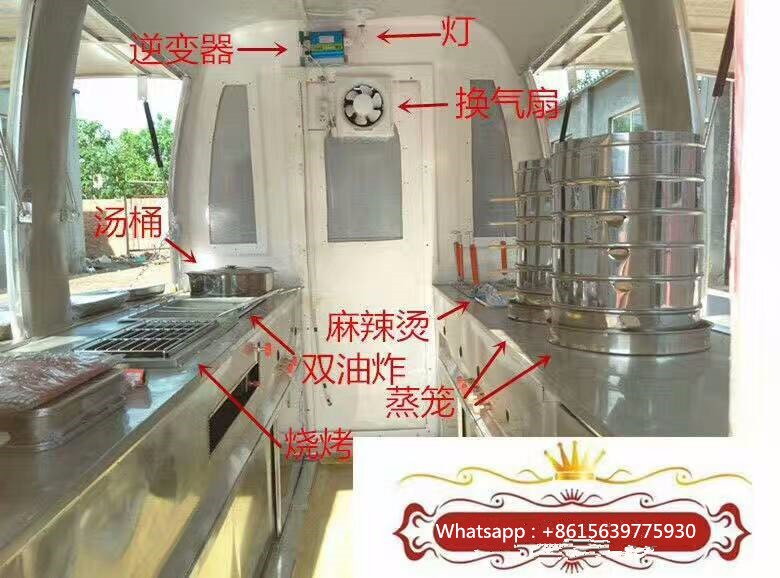 Commercial Outdoor Food Car , Fast Food Car for sale , Stainless Steel Mobile Food Cart