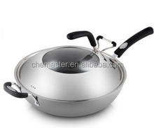 12 pcs Capsule bottom cooking pot stainless steel induction cookware handle