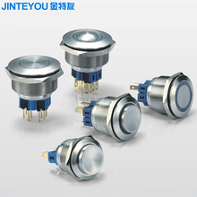 momentary 1NO 1NC push button switch with LED