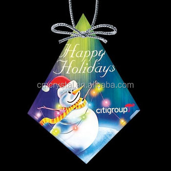 Diamond Shape Christmas Ornaments,Crystal Diamond Ornaments CCO033