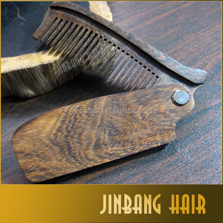 Hot sandalwood wooden folding comb