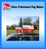 2012 European event promotional Poland car window flags