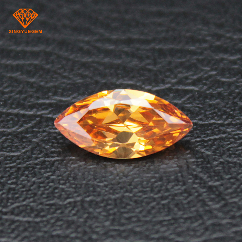 Marquise shape AAAAA Grade cz stones synthetic cubic zirconia for diamond make