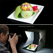 Very smaill after folding the Light Softbox Portable Desktop Soft box with Switch USB Cable one color Background