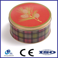 Wholesale custom printed biscuit packaging tin can / cookie packaging wholesale / cookie tin can