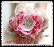 2012 Fashion bridal feather plastic flower hair accessories wholesale