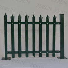 10years experience W section pale galvanized metal palisade fence