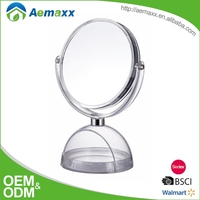 Suitable for family stand round bathroom mirror plastic frame make up mirror