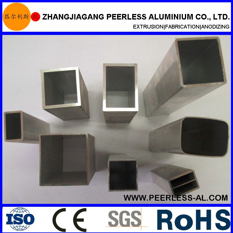 Peerless-AL high quality and precision cutting aluminum extrusion square tube