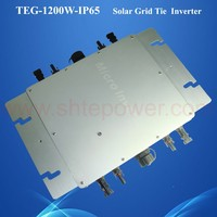 4pcs 200W - 300W Solar Panels Inverter Micro Grid Tie, 1200W Photovoltaic Waterproof Inverter