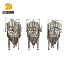 Factory direct sales 500l side manhole glycol jackets conical fermenter for beer
