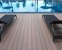 Easy cleaning wood plastic composite/wpc decking for lawn/grass side