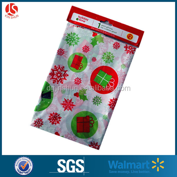 Jumbo drawstring plastic gift bag santa sack