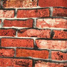 Red rust bricks pvc wallpaper