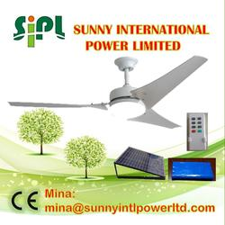 (solar) panel battery powered rechargeable battery system air conditioning cooling ceiling fan