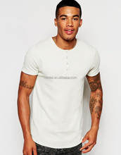 No Logo T Shirt Bulk Wholesale Fitness White T-Shirt Fashion Men Beautiful Button T Shirts For Men T-Shirt