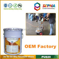 Professional-grade cement color Self-Leveling polyurethane strong bonding Floors cracks concrete road repair adhesive