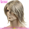 Qingdao hair factory direcct supply blonde color wigs for men hot sale hair wigs for men wholesale hair wigs for men price