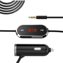 Wholesales Top-Quality Wireless FM Transmitter with 3.5mm audio plug with Dual USB Car Charger