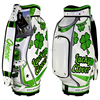 ladies golf bags with full length dividers, pu leather + velour lined, luxury bags custom embroidery