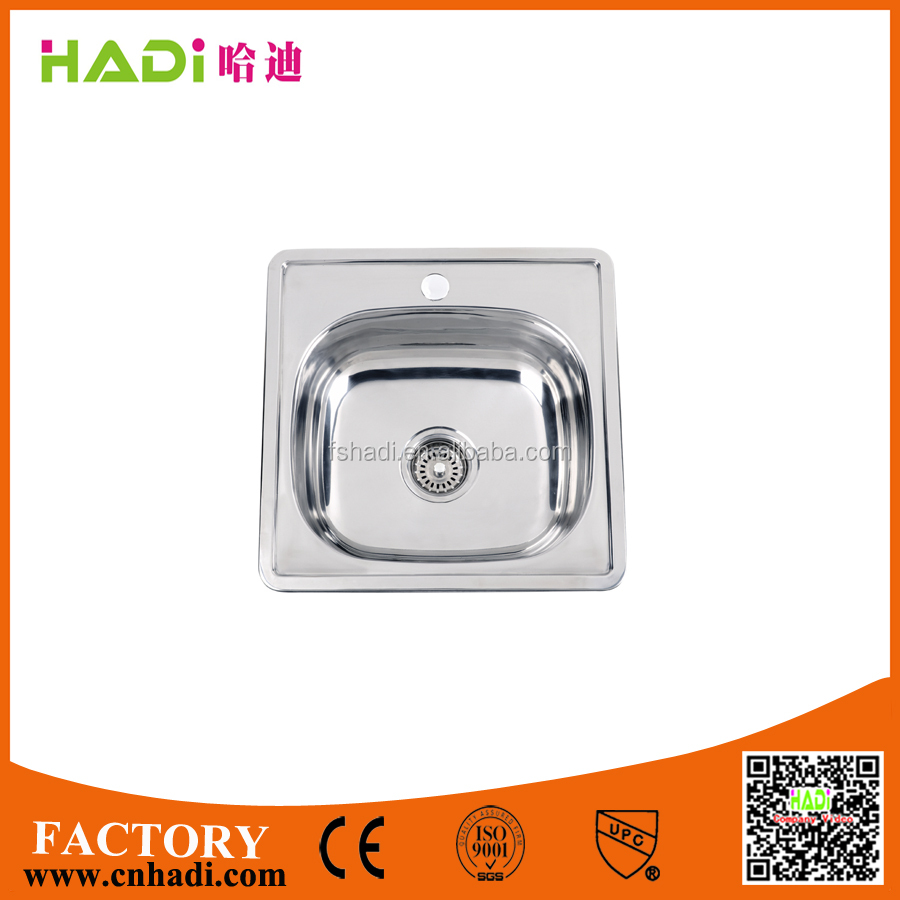 Europe design small single bowl stainless steel kitchen sink washing basin HD4848