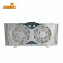 Factory 9 Inches Plastic bathroom window ventilation Fan twin window fan