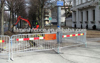 Packon construction sites and road works Pedestrian safety crossing Crowd Control Barrier