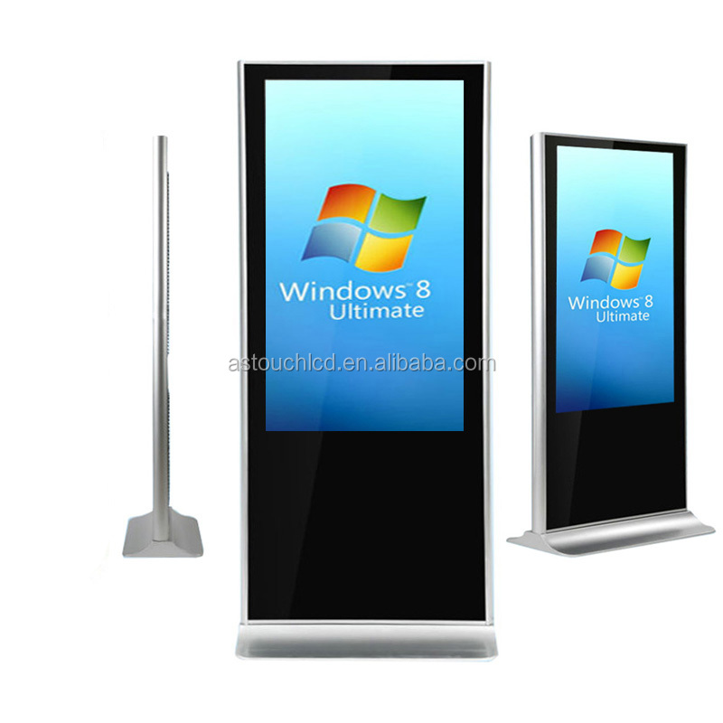 55 inch super slim white color touch screen kiosk totem lcd display / video game kiosk / kiosk in dubai