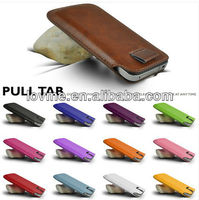 PULL TAB PU leather Pouch COVER CASE For Blackberry Z10, Blackberry Q10