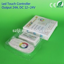 RGB Remote 3 Channels led dimmer wall mounted rgb led touch controller