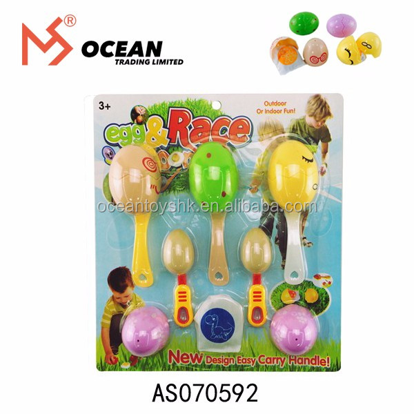 Kid Sport Game Toys International Playthings Egg and Spoon Race Game