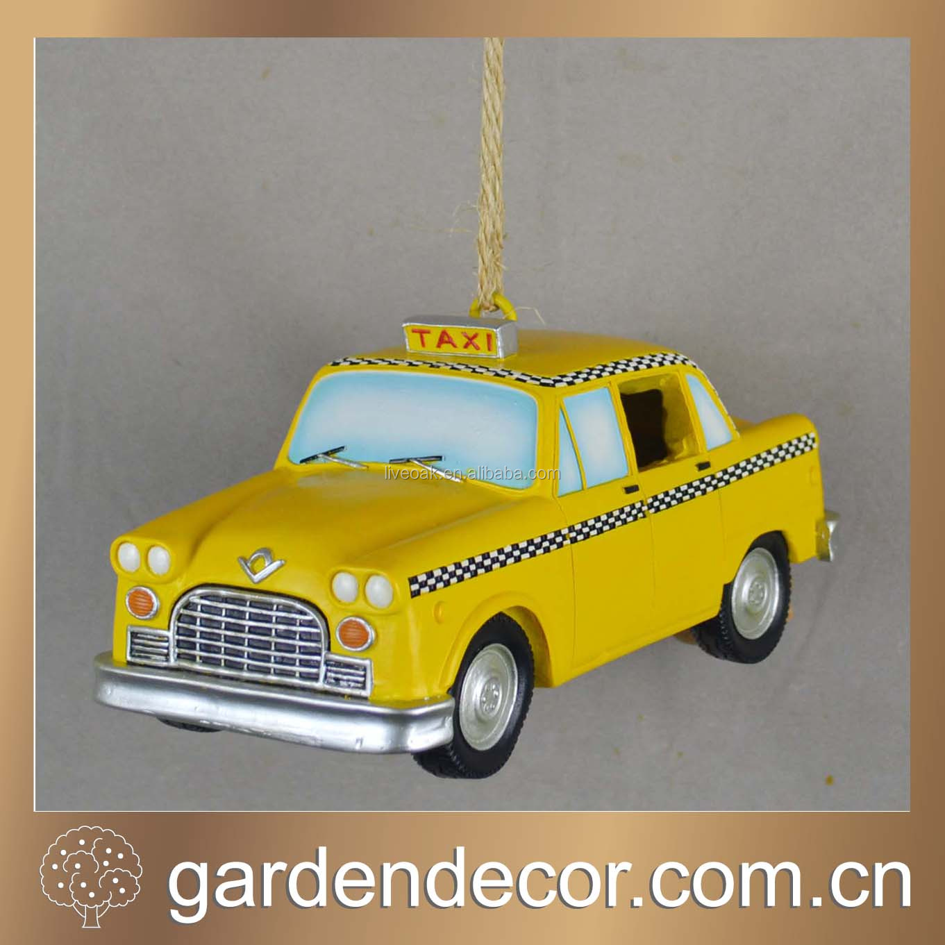 Decorative Taxi Resin Bird Houses