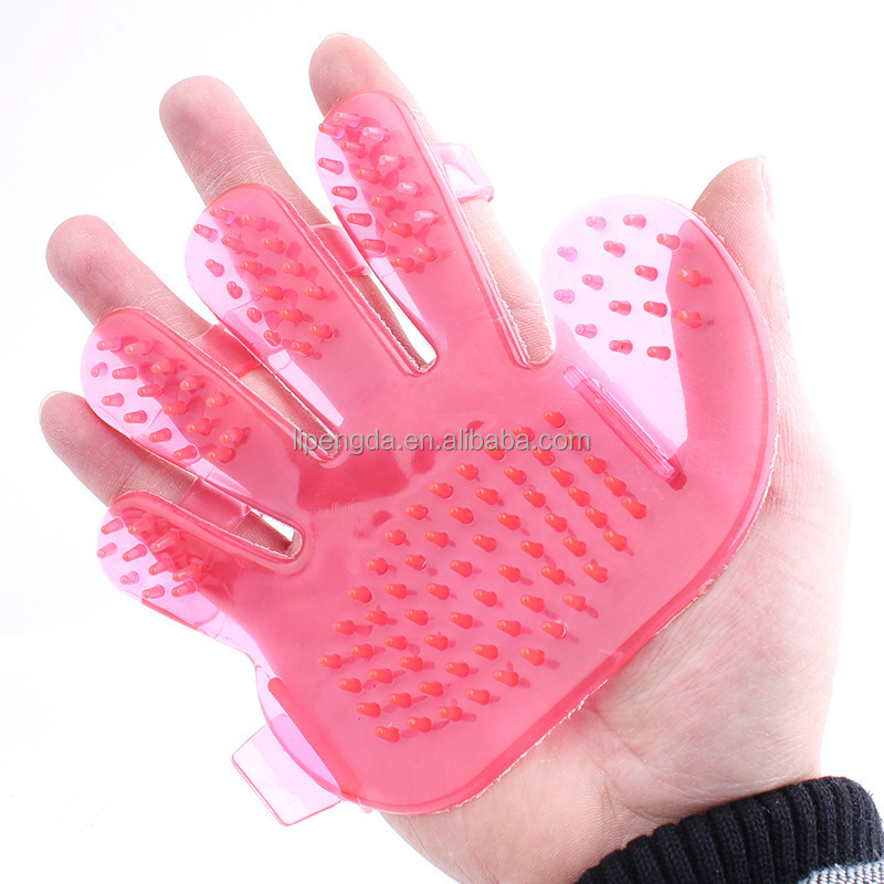 Glove Style Pet Bath Plastic Brush Wash Dog Brush , dog washing brush