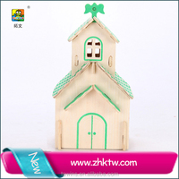 2016 Cotowins 3D School toy craft small doll house cute DIY drawing board puzzle
