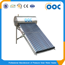 Stainless steel pressure solar water heater with heat pipe(8tubes-36 tubes)