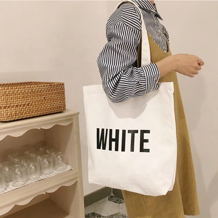 2019 Wholesale Cheap Logo Design Promotional Price Recyclable pink customized Printed Cotton Canvas Blank Tote Bag