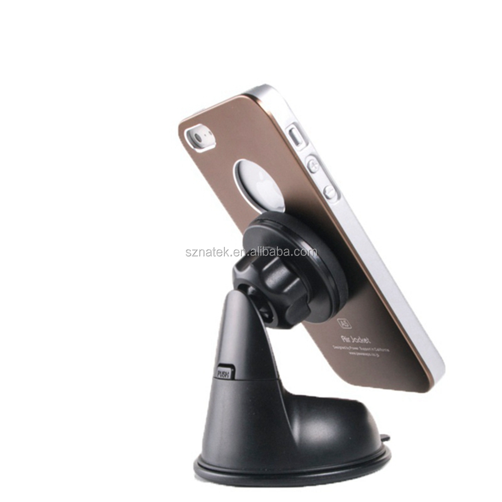 Auto Magnet Universal Mobile Phone Car Suction Cup Mount Holder For iPhone i7 i6 i5 Smartphone Desk Stand Holder