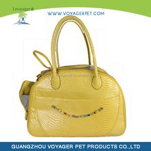 Lovoyager fashion hot selling leather Pet Tote carrier