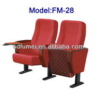 FM-28 Folding auditorium chair theater with table fabric cover