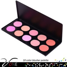 Pinkish glow 10 color blusher palette for hot selling