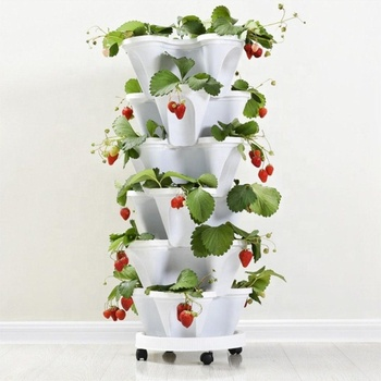 strawberry hydroponic vertical farming planter pots garden flower pots