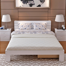 Wholesale beech wood pictures of wood double bed