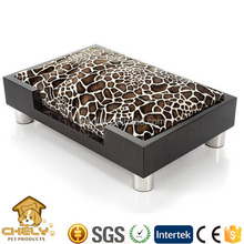 Luxury pet dog bed,wooden cat bed,fancy cat beds with metal feet & soft pad