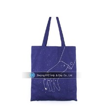 Custom printed purple irregular graphics canvas wholesale tote bags men with handles