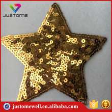 Wholesale Shiny Star 3D Sequin Beaded Patches for t-shirt