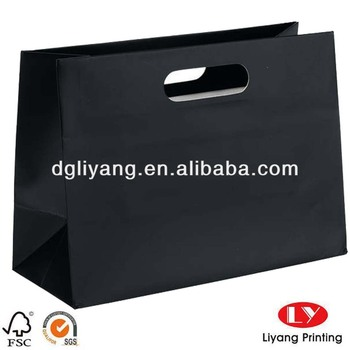 Noble Black Paper Bag With Punch Handle