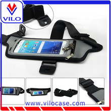 Black multi-function belt pouch for iPhone for Samsung