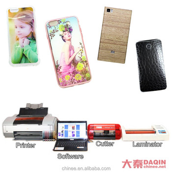 3d mobile skin phone sticker making machine with software
