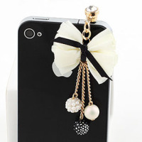 New fashion jewelry S0305 anti dust plug for cell phone mobile phone charger connector with plug
