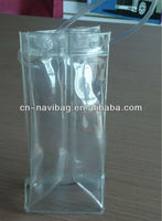 Promotional pvc wine bag for packing bottles (NV-P0269)